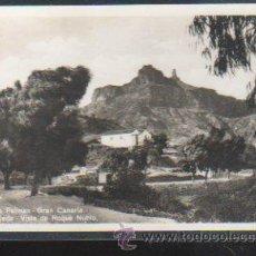 Postales: TARJETA POSTAL DE GRAN CANARIA - TEJEDA. VISTA DE ROQUE NUBLO. 119. BAZAR ALEMAN. Lote 31953599