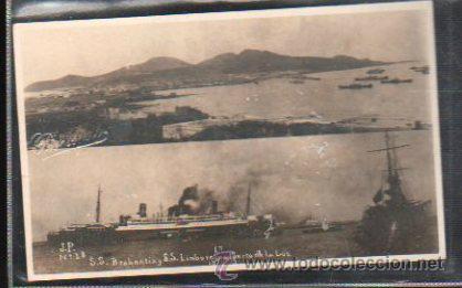 TARJETA POSTAL FOTOGRAFICA GRAN CANARIA - PUERTO DE LA LUZ. SS BRABANTIA Y SS LIMBURGIA. J.P Nº 38 (Postales - España - Canarias Antigua (hasta 1939))