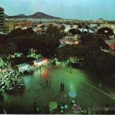 Postales: POSTALES. ISLAS CANARIAS. PARQUE DE SANTA CATALINA DE NOCHE. LAS PALMAS DE GRAN CANARIA. . Lote 31959008