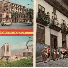 Postales: POSTALES. ISLAS CANARIAS. SANTA CRUZ DE TENERIFE. TRES VISTAS DE TENERIFE. RASTRILLO PORTOBELLO. Lote 32230075