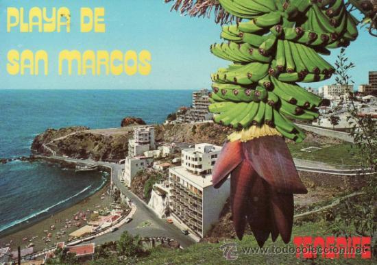 POSTALES.PLAYA DE SAN MARCOS. ISLAS CANARIAS. SANTA CRUZ DE TENERIFE. RASTRILLO PORTOBELLO (Postales - España - Canarias Moderna (desde 1940))