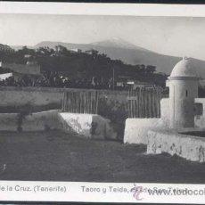 Postales: PUERTO DE LA CRUZ (TENERIFE).- TAORO Y TEIDE, DESDE SAN TELMO. Lote 32305098