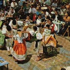 Postales: ISLAS CANARIAS, LAS PALMAS, BAILE TÍPICO EN EL PUEBLO CANARIO, 1971. Lote 32457717