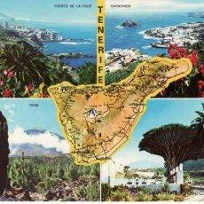 Postales: PUERTO DE LA CRUZ. GARACHICO. TEIDE. SANTA CRUZ DE TENERIFE. CANARIAS. ESPAÑA.RASTRILLO PORTOBELLO. Lote 32488064