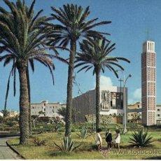 Postales: IGLESIA Y PARQUE. ISLA DE GRAN CANARIA. ISLAS CANARIAS. ESPAÑA. RASTRILLO PORTOBELLO. Lote 32561254