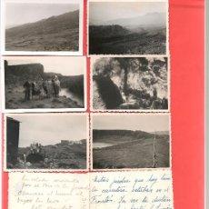 Postales: 9 FOTOS CANARIAS PROBABLE ISLA LA PALMA DATOS AL DORSO CARRETERA DE S. SIMON ... ... .... Lote 32651051