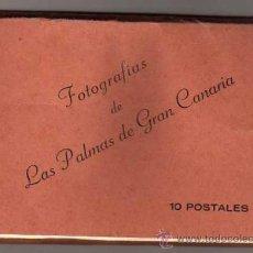 Postales: FOTOGRAFIAS DE LAS PALMAS DE GRAN CANARIA. 10 POSTALES. VDA DE RAFALE ROMERO Y CIA. Lote 33524522