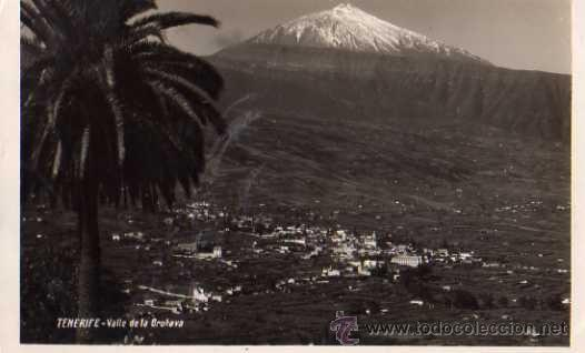 TENERIFE VALLE DE LA OROTAVA ESCRITA CIRCULADA SELLO AÑOS 40 (Postales - España - Canarias Antigua (hasta 1939))