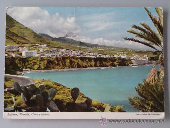 POSTAL DE TENERIFE, ISLAS CANARIAS. AÑOS 1970. BAJAMAR, VISTA PARCIAL 595. (Postales - España - Canarias Moderna (desde 1940))