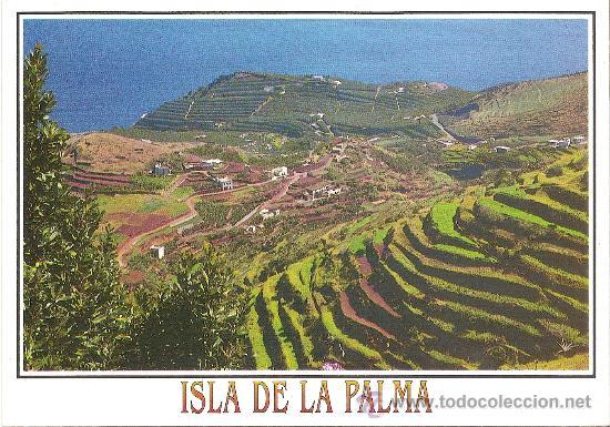 Isla De La Palma Barlovento Panorámica Del Cultivo En Terrazas Ediciones David Sin Circular