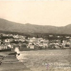 Postales: POSTAL FOTOGRAFICA ISLA DE LA PALMA SANTA CRUZ DE LA PALMA VISTA GENERAL. Lote 34862125