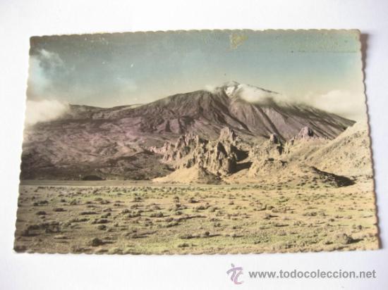 POSTAL FOTOGRAFICA COLOREADA DEL VALLE DE UCANCA Y EL TEIDE - CIRCULADA - SANTA CRUZ DE TENERIFE (Postales - España - Canarias Antigua (hasta 1939))