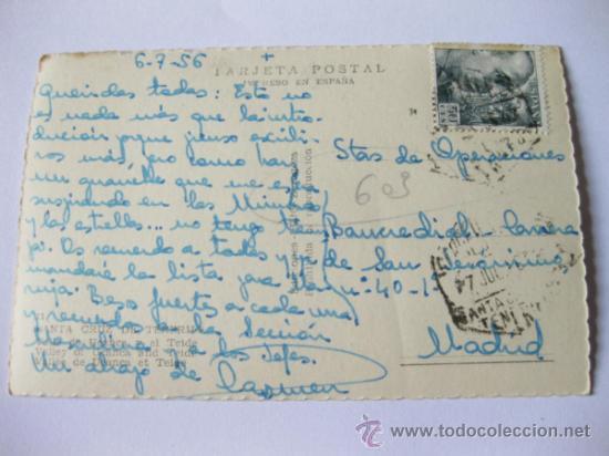 Postales: POSTAL FOTOGRAFICA COLOREADA DEL VALLE DE UCANCA Y EL TEIDE - CIRCULADA - SANTA CRUZ DE TENERIFE - Foto 2 - 35375038