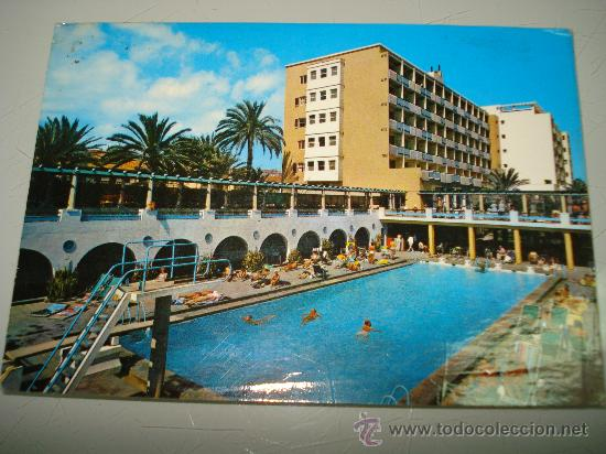 Antigua tarjeta postal de las palmas de gran ca comprar postales de canarias en todocoleccion - Piscina las palmas de gran canaria ...