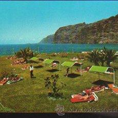 Postales: TARJETA POSTAL DE TENERIFE - LOS GIGANTES. LOS ACANTILADOS DESDE EL JARDIN DEL HOTEL LOS GIGANTES.. Lote 35491764