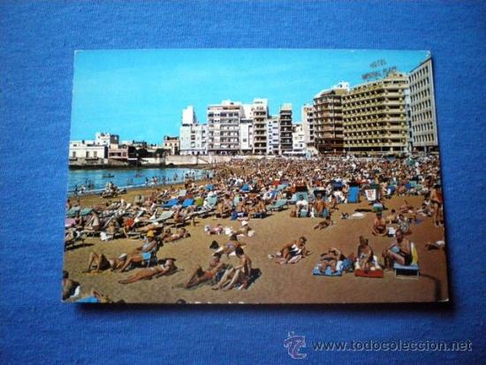 POSTAL GRAN CANARIA LAS PALMAS PLAYA DE LAS CANTERAS NO CIRCULADA (Postales - España - Canarias Moderna (desde 1940))