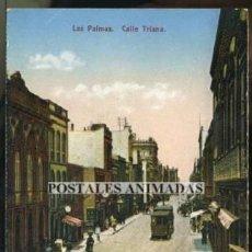 Postales: (A00749) LAS PALMAS - CALLE TRIANA - FOTOGRAFIA ALEMANA - TRANVIA. Lote 35680903