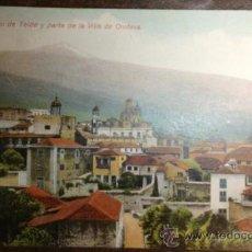 Postales: TENERIFE. EL PICO DE TEIDE Y PARTE DE LA VILLA DE OROTAVA. . Lote 35758909