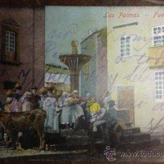 Postales: LAS PALMAS. FUENTE ANTIGUA. AGUADEROS. . Lote 35759045