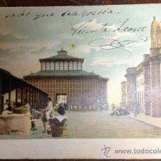 Postales: LAS PALMAS. MERCADO. CIRCULADA DE CUBA A BARCELONA. 1908. . Lote 35759073