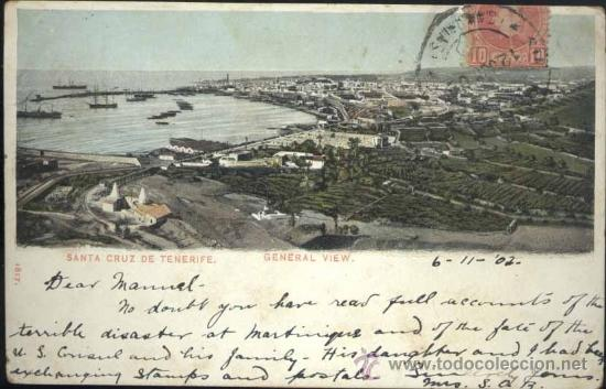 SANTA CRUZ DE TENERIFE (TENERIFE).- VISTA GENERAL (Postales - España - Canarias Antigua (hasta 1939))