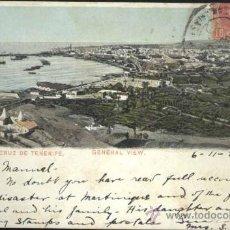 Postales: SANTA CRUZ DE TENERIFE (TENERIFE).- VISTA GENERAL. Lote 36023531