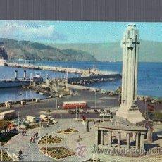 Postales: TARJETA POSTAL DE TENERIFE - MONUMENTO A LOS CAIDOS Y PUERTO. 103. FOTO ABRIL. Lote 36344524