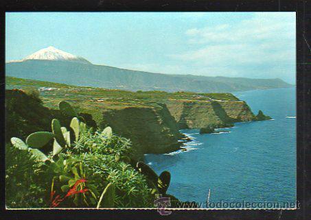 TARJETA POSTAL DE TENERIFE - PAISAJE CON TEIDE Y MAR. FARDI (Postales - España - Canarias Moderna (desde 1940))