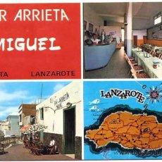 Cartes Postales: POSTAL ARRIETA BAR MIGUEL LANZAROTE CANARIAS. Lote 36623910
