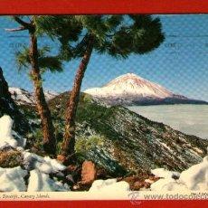 Postales: ANTIGUA POSTAL USADA: EL TEIDE CON NIEVE - TENERIFE - AÑO 1974.. Lote 36656277