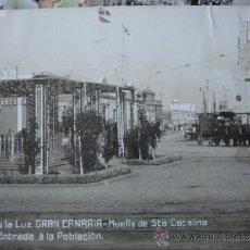 Postales: GRAN CANARIA PUERTO DE LA LUZ MUELLE SANTA CATALINA ENTRDA A LA POBLACION.JG Nº 12. Lote 36764405