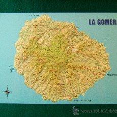 Postales: LA GOMERA - POSTAL SIN CIRCULAR CON MAPA DE LA ISLA - ISLAS CANARIAS - ANDY G199J - DECADA 1980. -. Lote 36827476