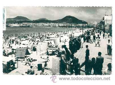 LAS PALMAS DE GRAN CANARIA. PLAYA DE LAS CANTERAS. . CIRCULADA (Postales - España - Canarias Moderna (desde 1940))