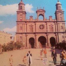 Postales: POSTAL CATEDRAL LAS PALMAS GRAN CANARIA - ED RO-FOTO NUM 243 BARNA. Lote 36910808