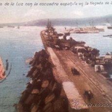 Postales: POSTAL PUERTO DE LA LUZ - LAS PALMAS DE GRAN CANARIA - ESCUADRA LLEGADA DE S.M. ALFONSO XIII 1907. Lote 36910833
