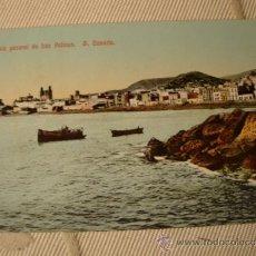 Postales: ANTIGUA FOTOGRAFIA POSTAL COLOREADA LAS PALMAS G. CANARIAS, 100X100 ORIGINAL DE P.P.S.XX, 1915. Lote 37473330