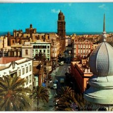 Postales: GRAN CANARIA. LAS PALMAS DE GRAN CANARIAS. PLAZA DEL CAIRASCO Y CALLE OBISPO CODINA.. Lote 37579331
