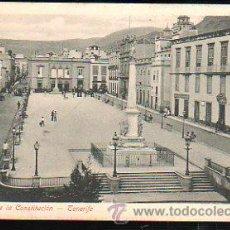 Postales: TARJ. POSTAL DE TENERIFE - PLAZA DE LA CONSTITUCION.. Lote 37581600