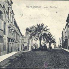Postales: LAS PALMAS (GRAN CANARIA).- PLAZA CASTILLO. Lote 37702502