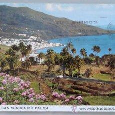 Postais: POSTAL DE SAN MIGUEL DE LA PALMA. AÑO 1972. SANTA CRUZ DESDE BREÑA BAJA. 1396. . Lote 37823656