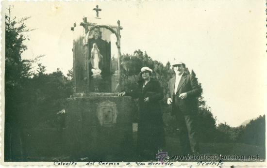 TENERIFE. CALVARIO DEL CARMEN. MONTE DE LAS MERCEDES. FOTOGRÁFICA. AÑO 1935. (Postales - España - Canarias Antigua (hasta 1939))