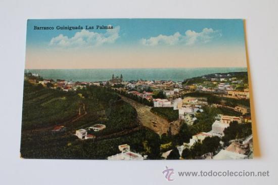 POSTAL. LAS PALMAS DE GRAN CANARIA. BARRACO GUINIGUADA. RODRIGUES BROS. (Postales - España - Canarias Moderna (desde 1940))