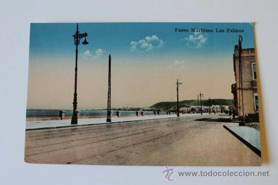 POSTAL. LAS PALMAS DE GRAN CANARIA. PASEO MARÍTIMO. RODRIGUES BROS. (Postales - España - Canarias Moderna (desde 1940))