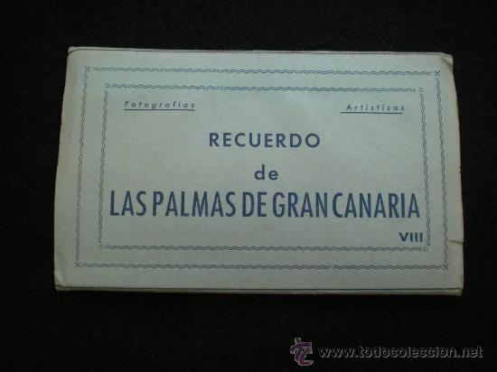 BLOQ. 10 POSTALES. RECUERDO DE LAS PALMAS DE GRAN CANARIA. VIII. COMPLETO. AÑOS 40. (Postales - España - Canarias Moderna (desde 1940))