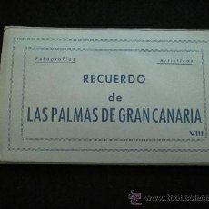 Postales: BLOQ. 10 POSTALES. RECUERDO DE LAS PALMAS DE GRAN CANARIA. VIII. COMPLETO. AÑOS 40.. Lote 38719720