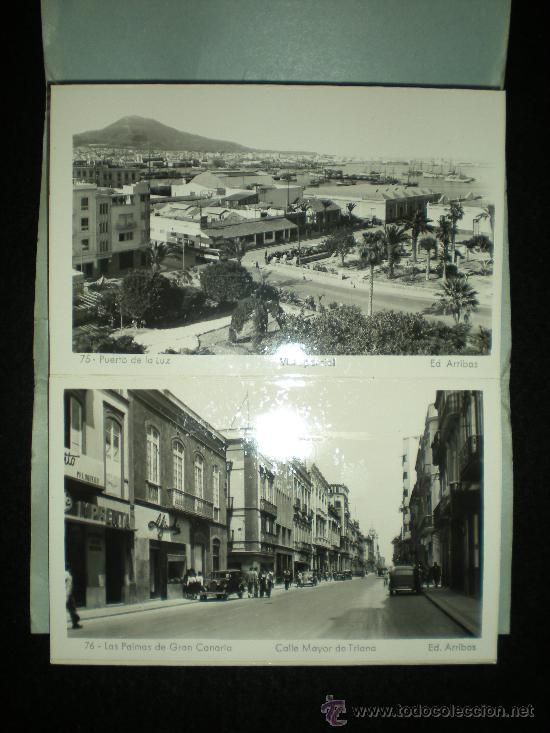 Postales: Bloq. 10 Postales. Recuerdo de Las Palmas de Gran Canaria. VIII. Completo. Años 40. - Foto 3 - 38719720