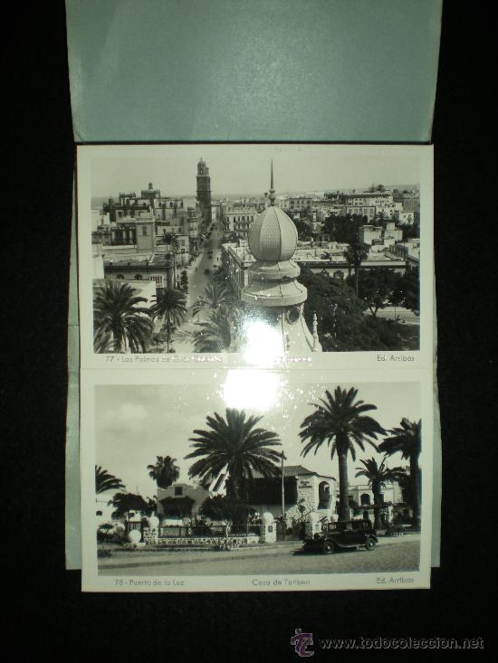 Postales: Bloq. 10 Postales. Recuerdo de Las Palmas de Gran Canaria. VIII. Completo. Años 40. - Foto 4 - 38719720