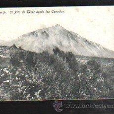 Postais: TARJETA POSTAL DE TENERIFE - EL PICO DE TEIDE DESDE LAS CANADAS. Nº 19. HUGH. Lote 38897378