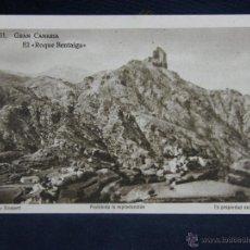 Postales: POSTAL 31 GRAN CANARIA EL ROQUE BENTAIGA FOTO BONNET ED HAUSER Y MENET SIN CIRCULAR. Lote 39417940