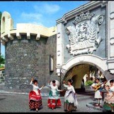 Postales: LAS PALMAS DE GRAN CANARIA.- BAILES TIPICOS DE PUEBLO CANARIO. Lote 39503786